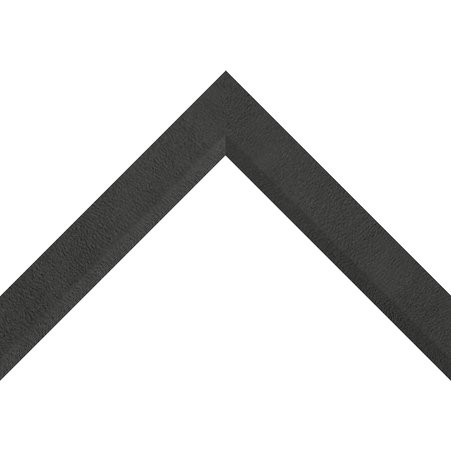 1-1/4″ Black Suede Front Bevel Wrap