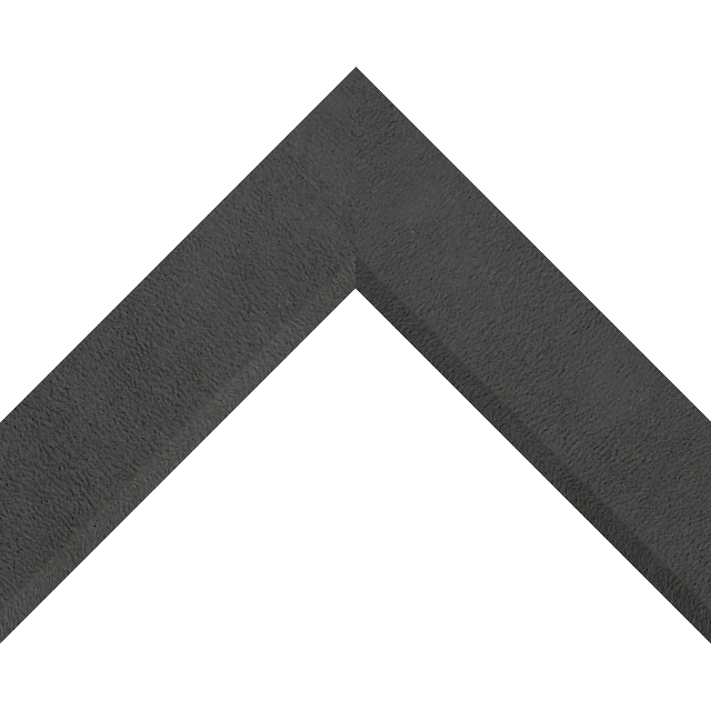 2″ Black Suede Front Bevel Wrap