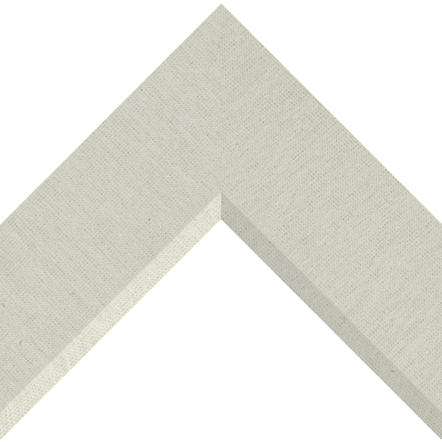 3″ Brussels Natural Linen Front Bevel Liner Picture Frame Moulding