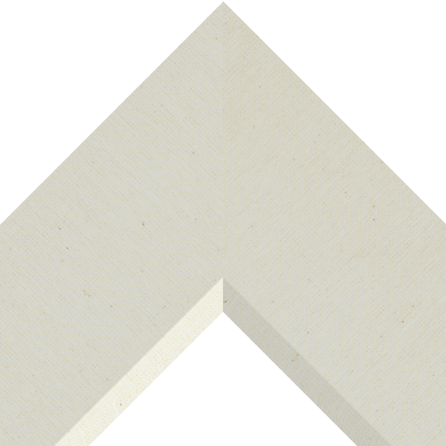 4″ Brussels Cream Linen Front Bevel Wrap