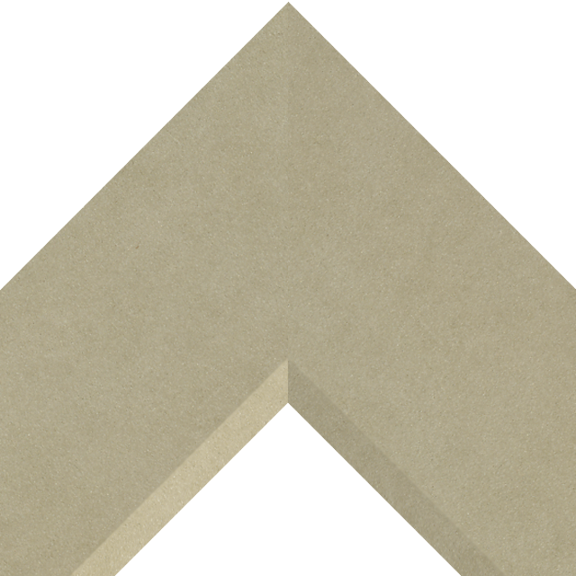 4″ Ultra Taupe Suede Front Bevel Liner Picture Frame Moulding