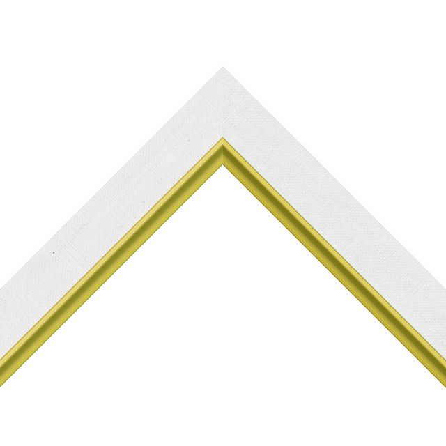 1-1/4″ White Linen Flat with Gold Scoop Lip