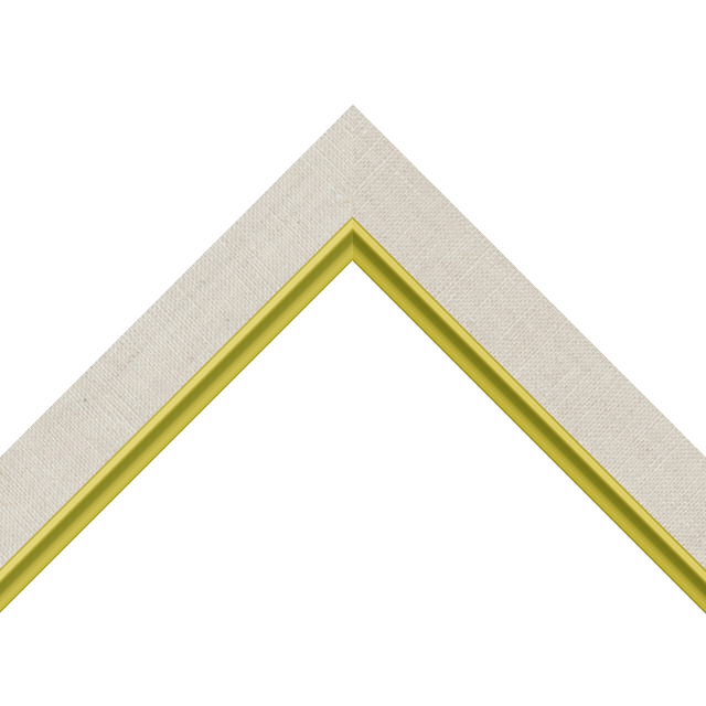 1-1/4″ Natural Linen Flat with Gold Scoop Lip