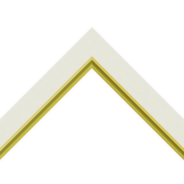 1-1/4″ Cream Linen Flat with Gold Scoop Lip