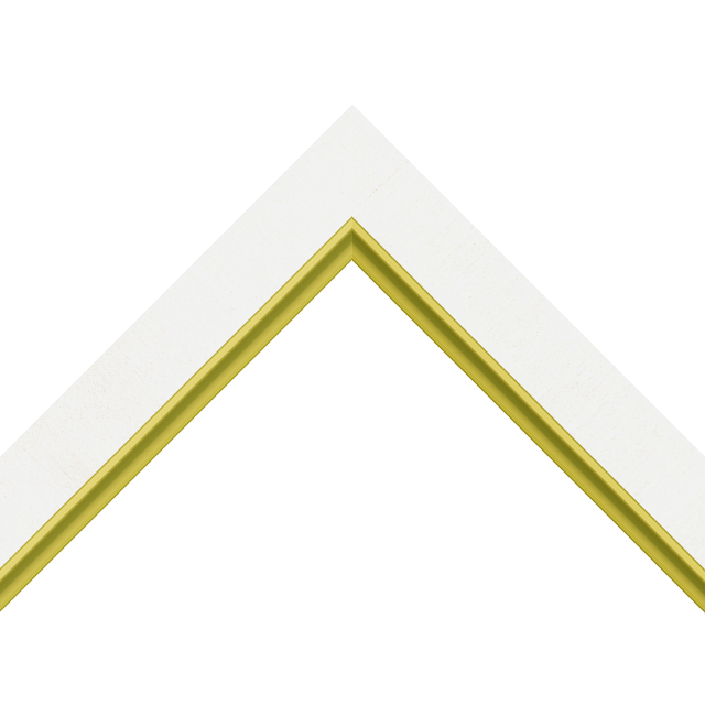 1-1/4″ White Silk Flat with Gold Scoop Lip