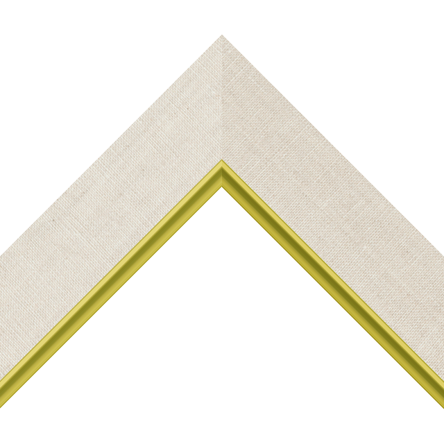 2″ Natural Linen Flat with Gold Scoop Lip