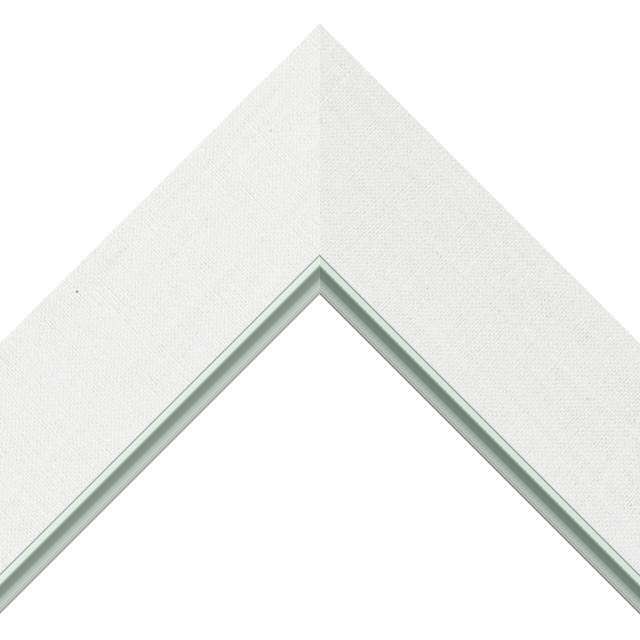 2-1/2″ White Linen Flat<br />with Silver Lip Liner Picture Frame Moulding