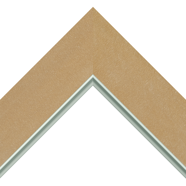 2-1/2″ Thatch Suede Flat<br />with Silver Lip Liner Picture Frame Moulding