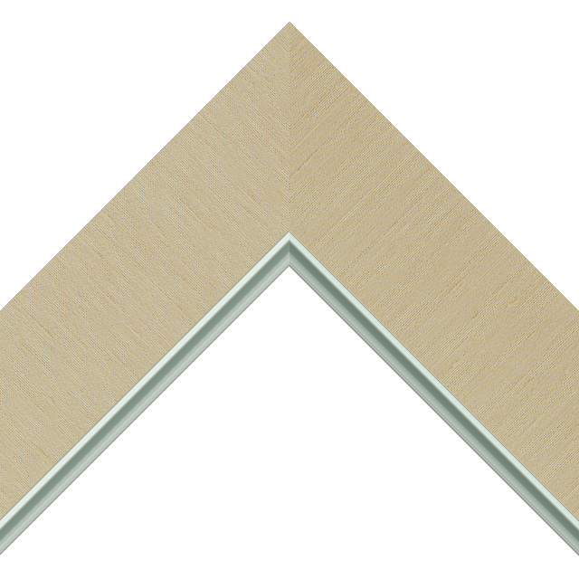 2-1/2″ Vanilla Silk Flat<br />with Silver Lip Liner Picture Frame Moulding