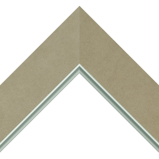 2-1/2″ Ultra Taupe Suede Flat<br />with Silver Lip Liner Picture Frame Moulding
