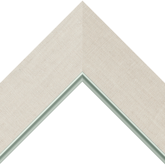 3″ Natural Linen Flat<br />with Silver Lip Liner Picture Frame Moulding