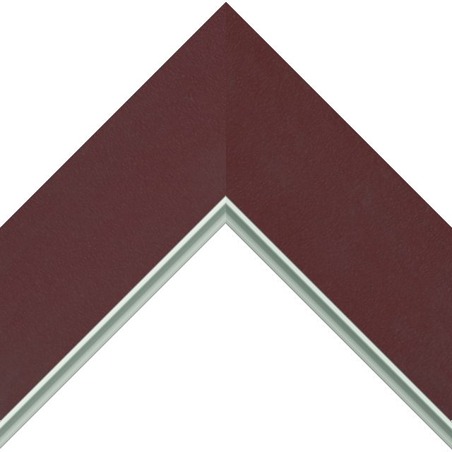 3″ Claret Suede Flat<br />with Silver Lip Liner Picture Frame Moulding