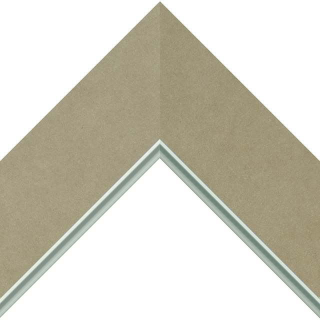 3″ Ultra Taupe Suede Flat<br />with Silver Lip Liner Picture Frame Moulding