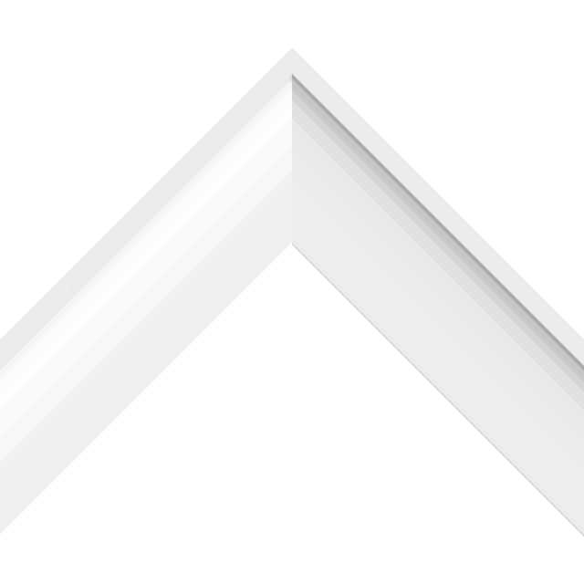 2-1/4″ White Vinyl Primer Shallow Scoop Liner Picture Frame Moulding