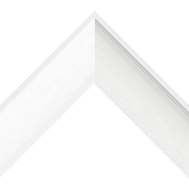 2-1/2″ White Linen Scoop Wrap