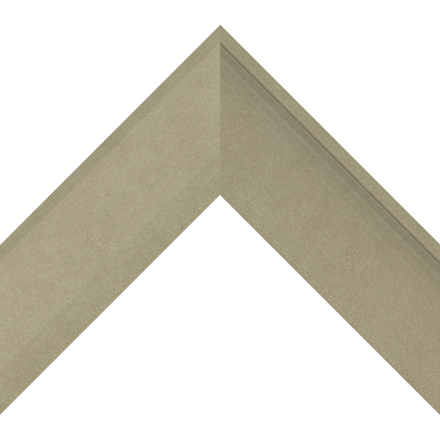 2-1/2″ Ultra Taupe Suede Scoop Liner Picture Frame Moulding