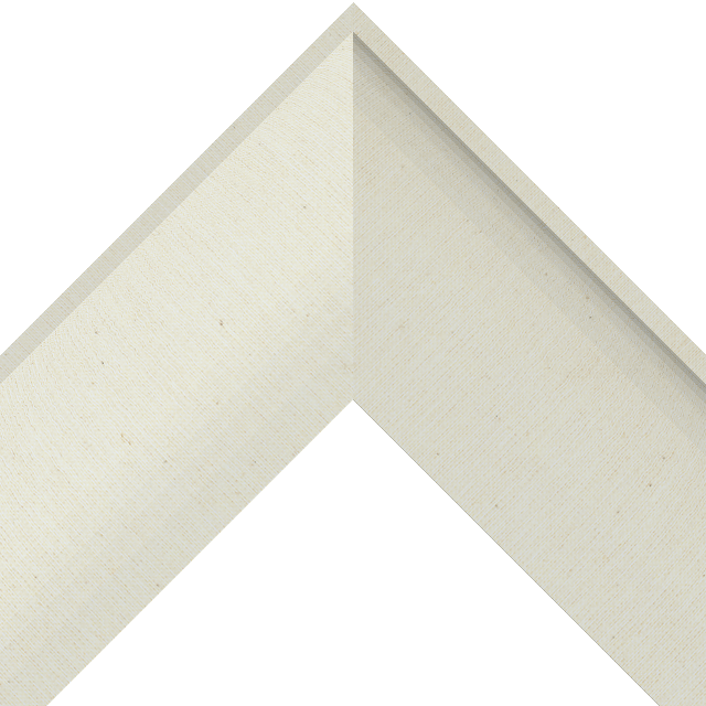 3-1/2″ Brussels Cream Linen Scoop Liner Picture Frame Moulding